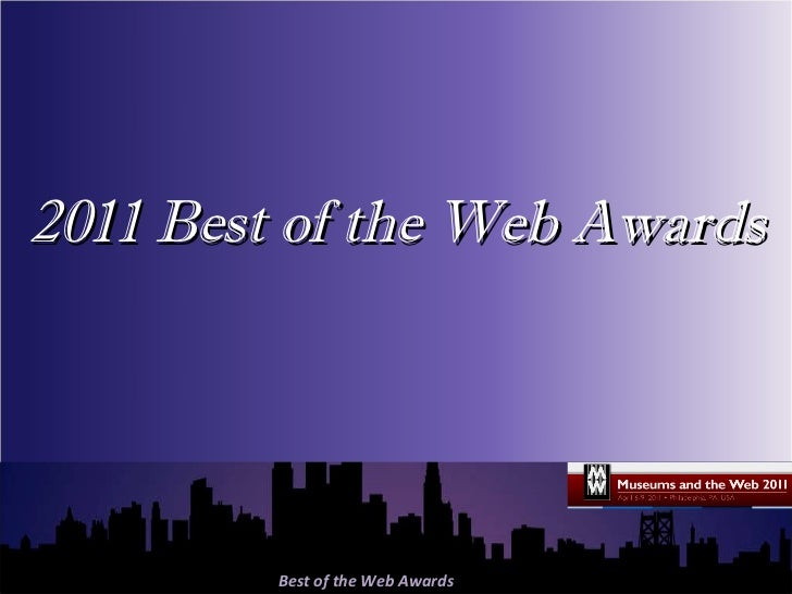 MW2011 Best of the Web Awards