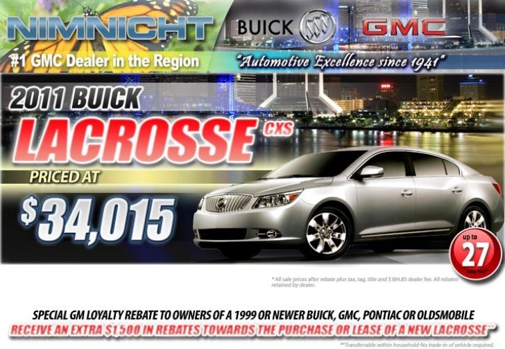 2011 Buick LaCrosse Jacksonville FL   Nimnicht GMC