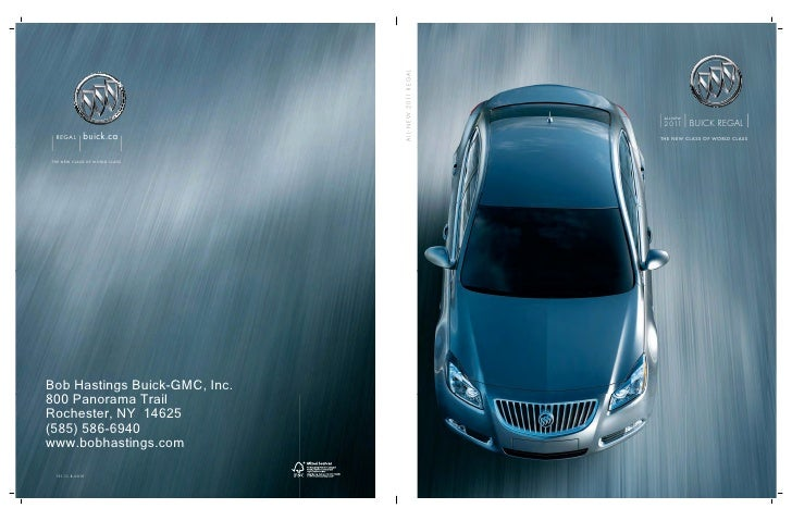 2011 Buick Regal Brochure Rochester