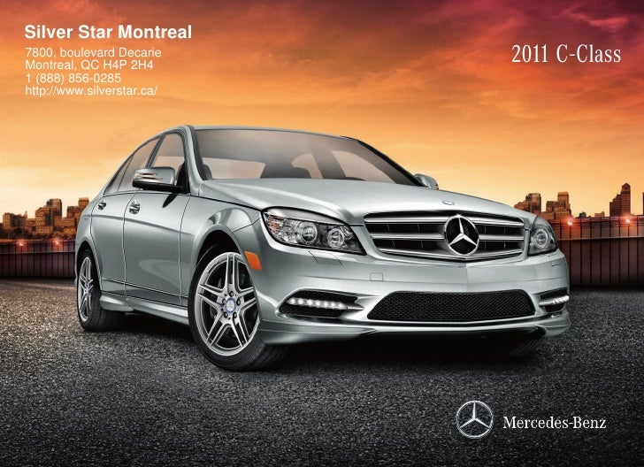 2011 mercedes benz c 300 luxury sedan silver star montreal