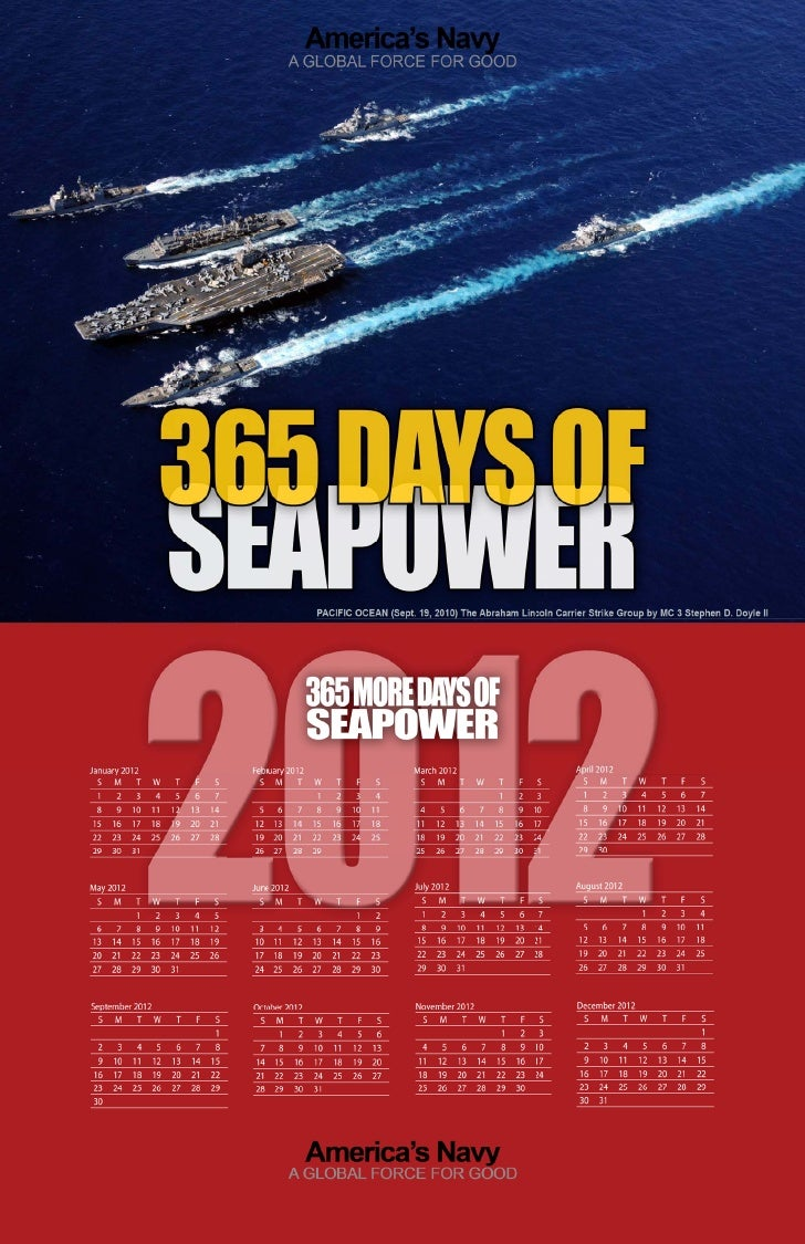 2011 Navy Calendar