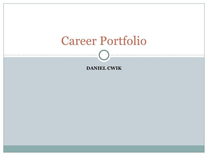 2011 Career Portfolio