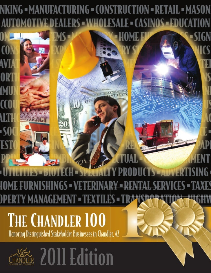 Honoring Distinguished Stakeholder Businesses in Chandler, AZ                 2011 Edition