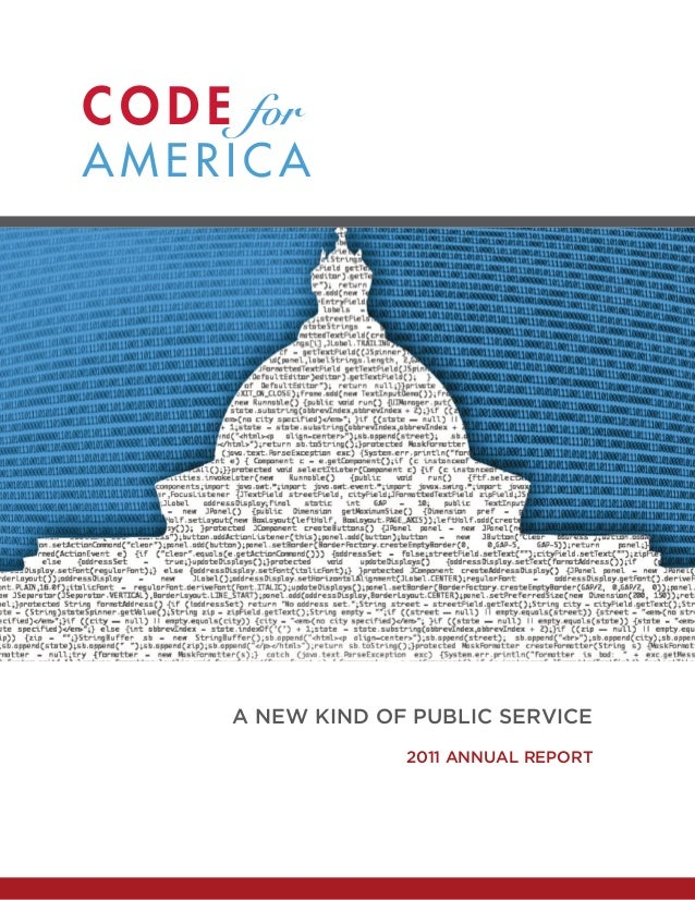 2011 Code for America Annual Report
