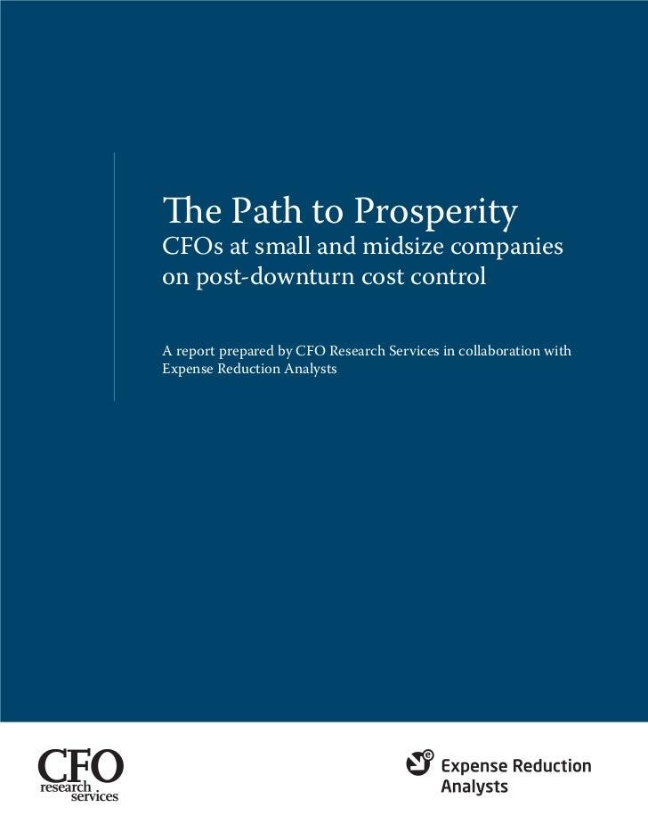 2011 CFO Whitepaper   The Path To Prosperity