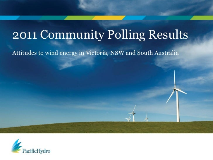 2011 Community Polling ResultsAttitudes to wind energy in Victoria, NSW and South Australia