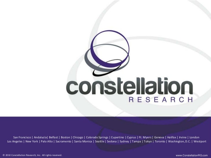 2011 Constellation Research's The Business Value Approach To Strategic HR by Amy Wilson