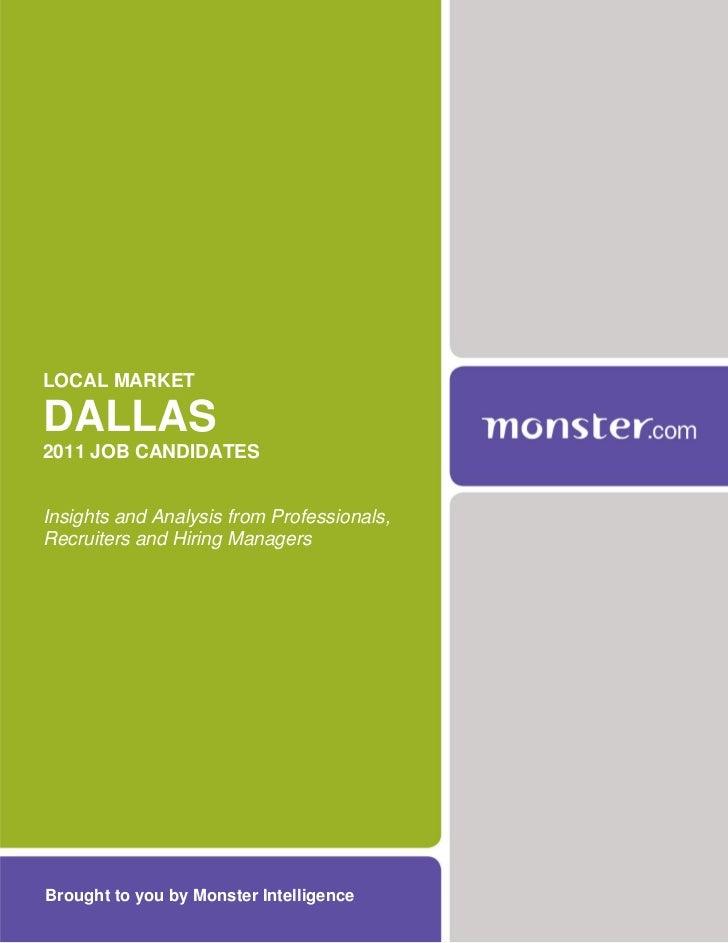 2011 Dallas Job Conditions Report