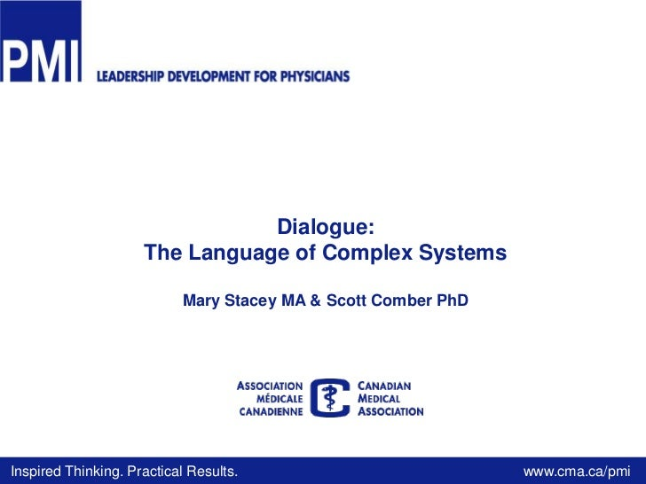 2011 dialogue   the language of complex systems v.2