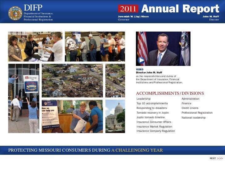 2011 Missouri DIFP Annual Report