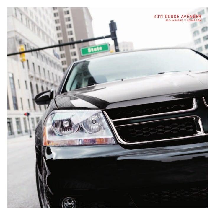 2011 Dodge Avenger brochure brought to you by your Mid Atlantic Dodge Ram dealer