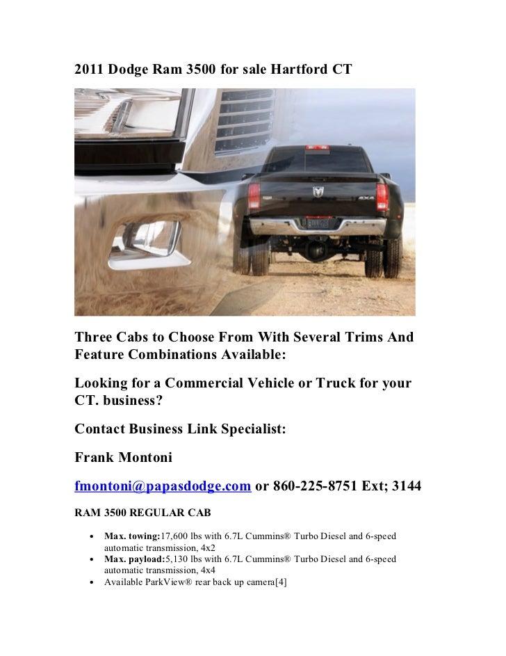 2011 dodge ram 3500 for sale hartford ct