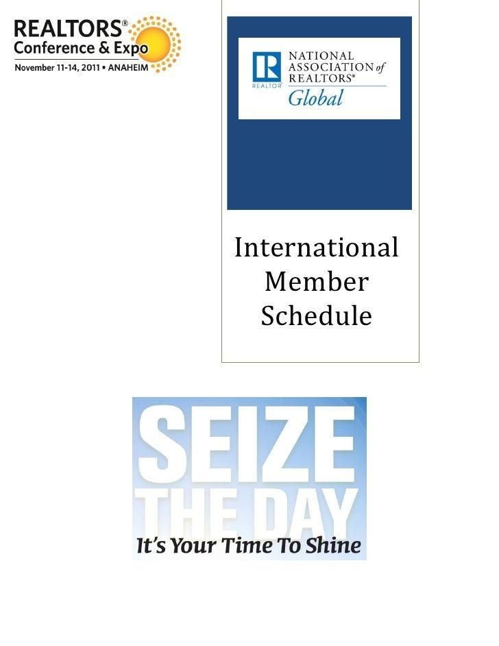 International  Member  Schedule