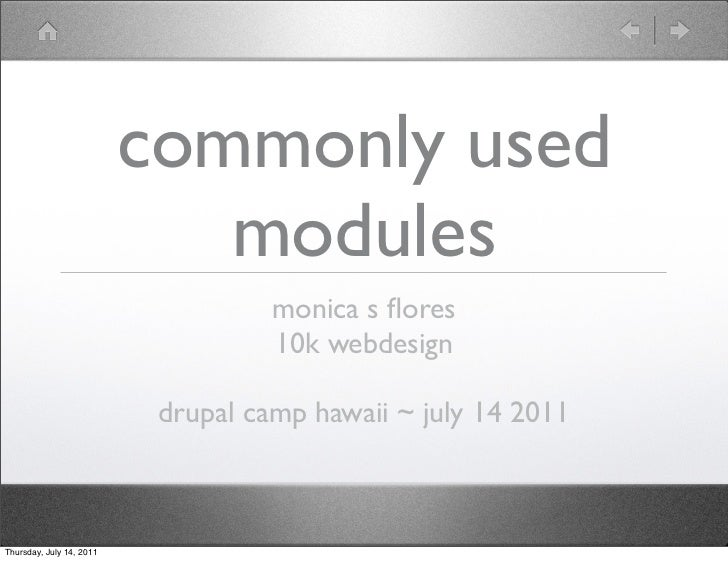 commonly used                             modules                                    monica s flores                       ...