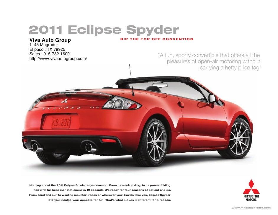Viva Ford El Paso >> 2011 Mitsubishi Eclipse Spyder Mitsubishi of Viva Auto Group El Paso…