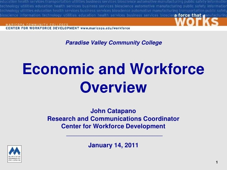 Paradise Valley Community College<br />Economic and Workforce Overview<br />John CatapanoResearch and Communications Coord...