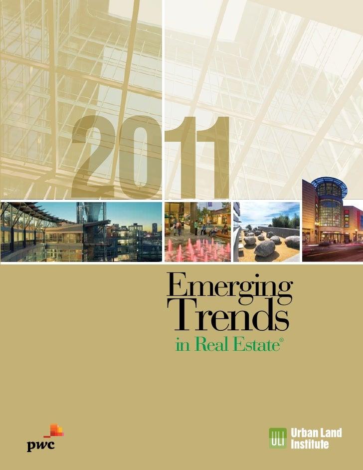 PWC/ULI - 2011 Emerging Trends in Real Estate