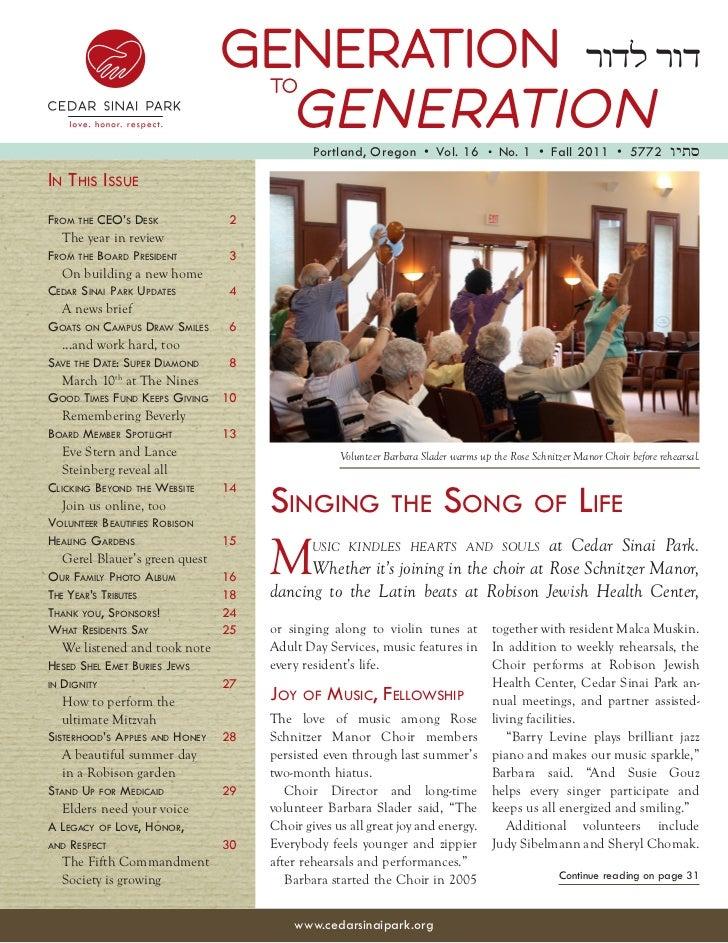 Generation to Generation Fall 2011