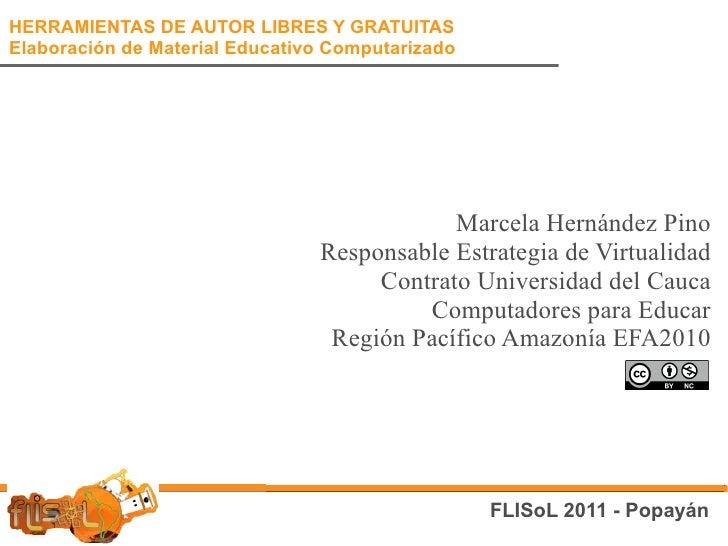 FliSoL: Herramientas de autor libres y gratuitas para Elaboración de Materiales Educativos Computarizados