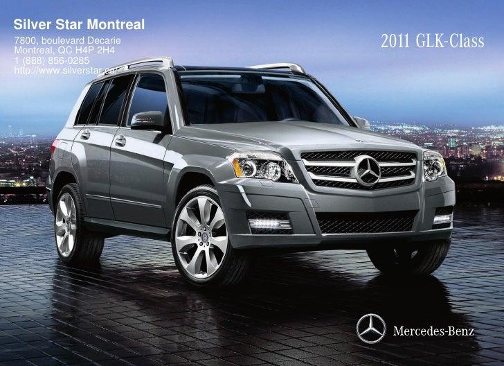 2011 mercedes benz glk350 suv silver star montreal qc canada for Silver star mercedes benz montreal