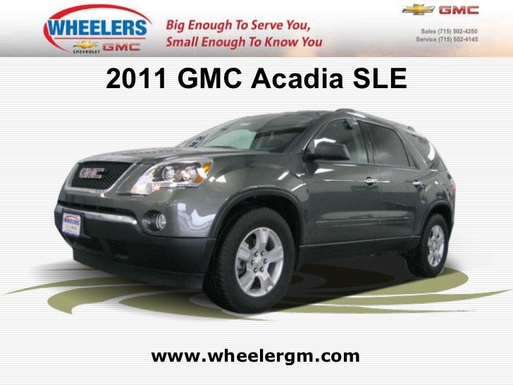 Used 2011 GMC Acadia SLE at Marshfield, Wausau, Stevens Point, WI