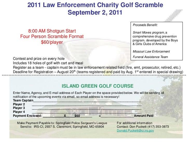 2011 golf tournament flyer