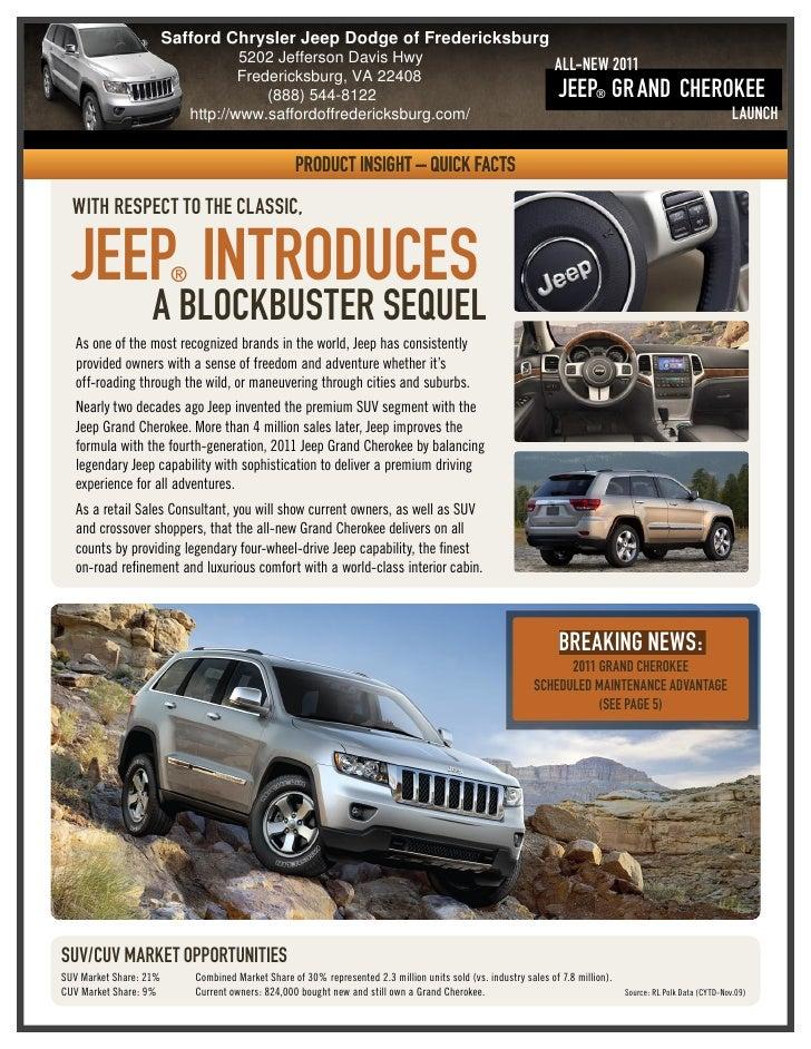 2011 Safford Chrysler Jeep Dodge of Fredericksburg Jeep Grand Cherokee Fredericksburg VA