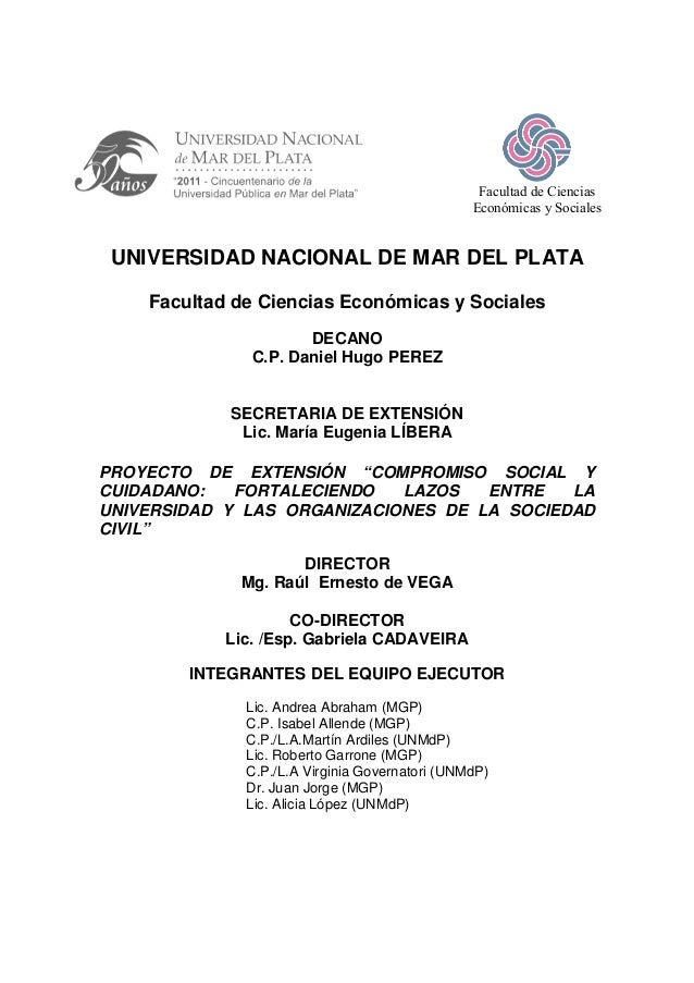 Facultad de Ciencias                                                Económicas y Sociales UNIVERSIDAD NACIONAL DE MAR DEL ...