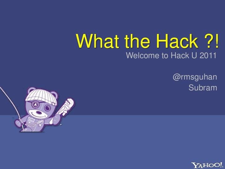 2011 HackU UCSD