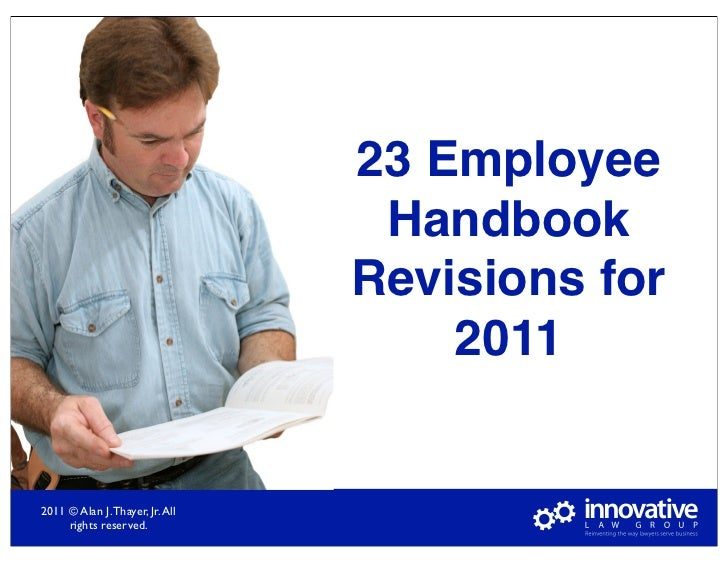 23 Employee                                  Handbook                                 Revisions for                       ...