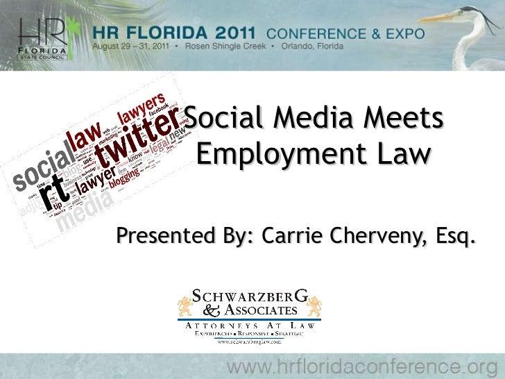 Cherveny - Social media meets employment