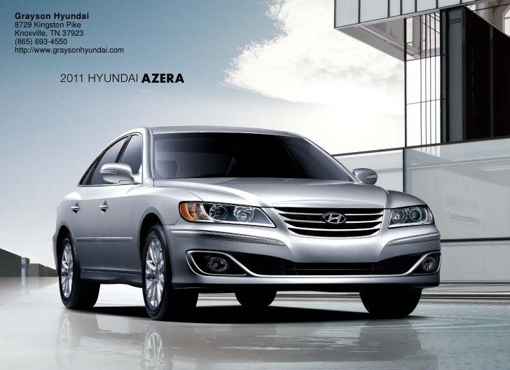 2011 Hyundai Azera- Grayson Hyundai Knoxville, TN