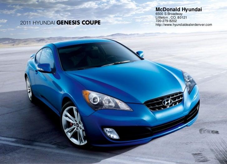 2011 Hyundai Genesis Coupe For Sale Near Denver Co