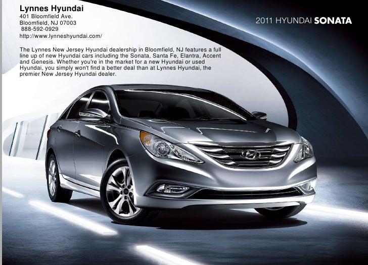 2011 Hyundai Sonata Brochure Lynnes Hyundai Bloomfield NJ