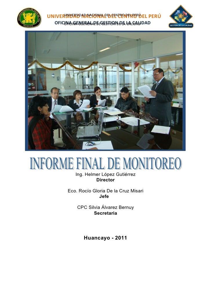 UNIVERSIDAD NACIONAL DEL CENTRO DEL PERÚ      UNIVERSIDAD NACIONAL DEL CENTRO DEL PERÚ     1   OFICINA GENERAL DE GESTION ...