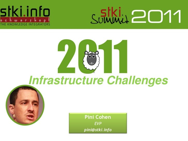 ;Infrastructure Challenges                                    Pini Cohen                                        EVP       ...