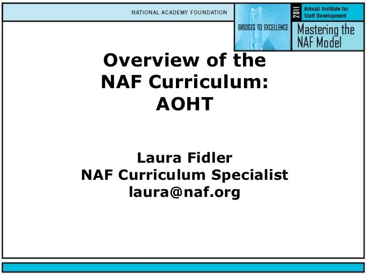 Overview of AOHT Curriculum