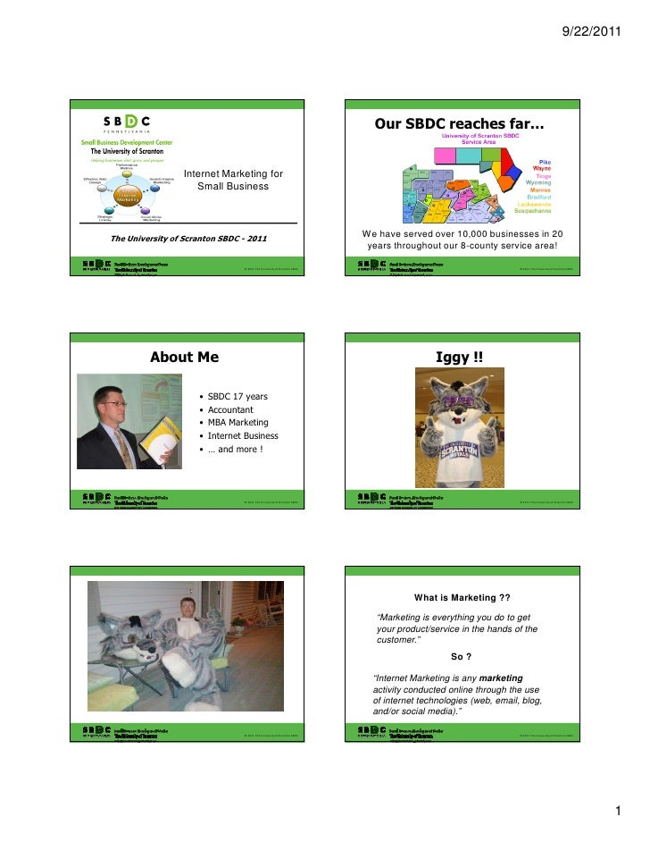 2011 Internet Marketing for Small Business