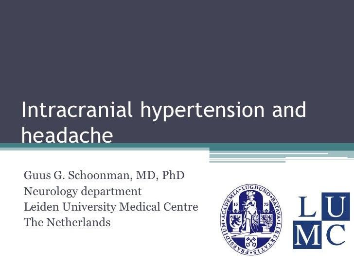Intracranial hypertension and headache