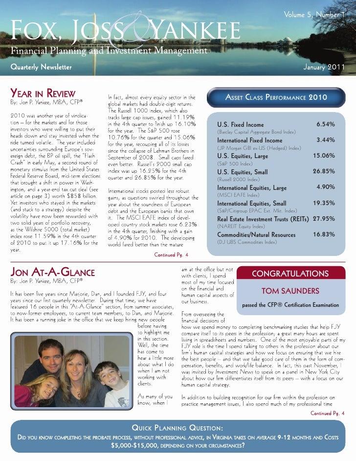 Asset ClAss PerformAnCe 2010U.S. Fixed Income                          6.54%(Barclay Capital Aggregate Bond Index)Internat...