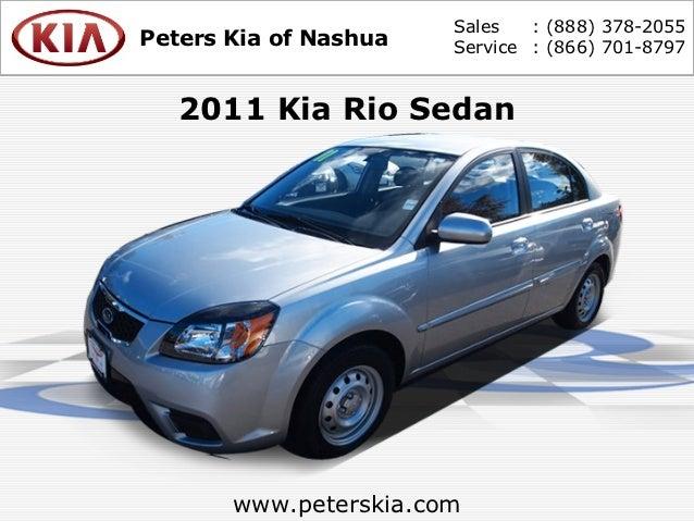 Used 2011 Kia Rio Sedan - Nashua NH Kia Dealer