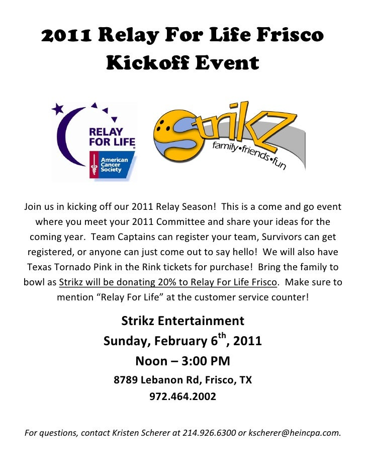 2011 Relay For Life Frisco         Kickoff Event                                                                         ...