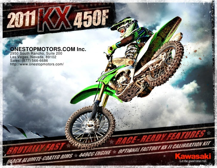 2011 Kawasaki Kx450 Las Vegas Nv