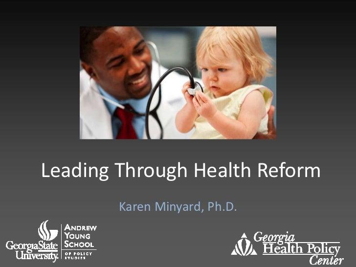 Leading Through Health Reform