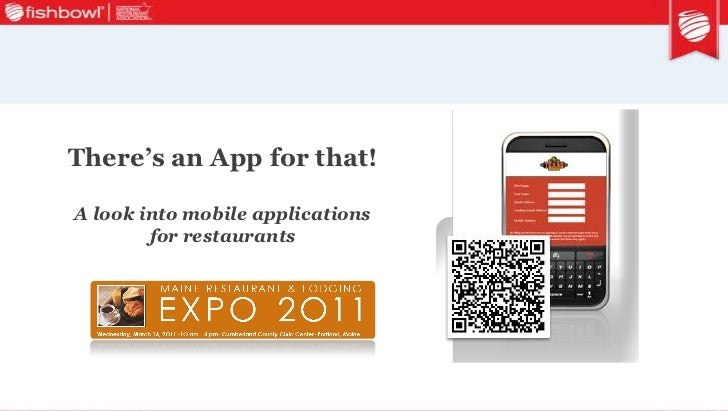 "2011 Maine Restaurant Expo seminar deck ""There's an App for That"" 3 16-2011"