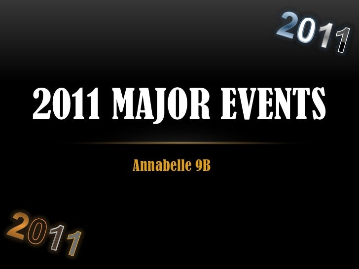 2011 Major Events