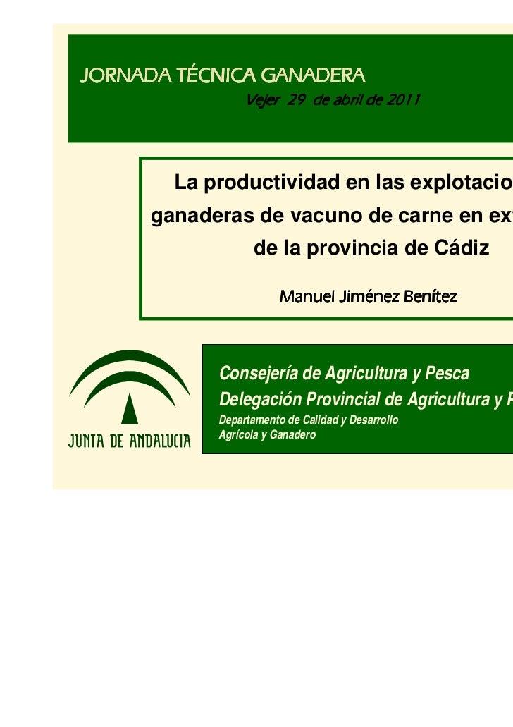 2011 manuel jimenez benitez productividad vacuno extensivo cadiz