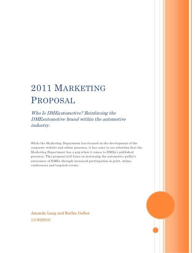 2011 marketing proposal final version