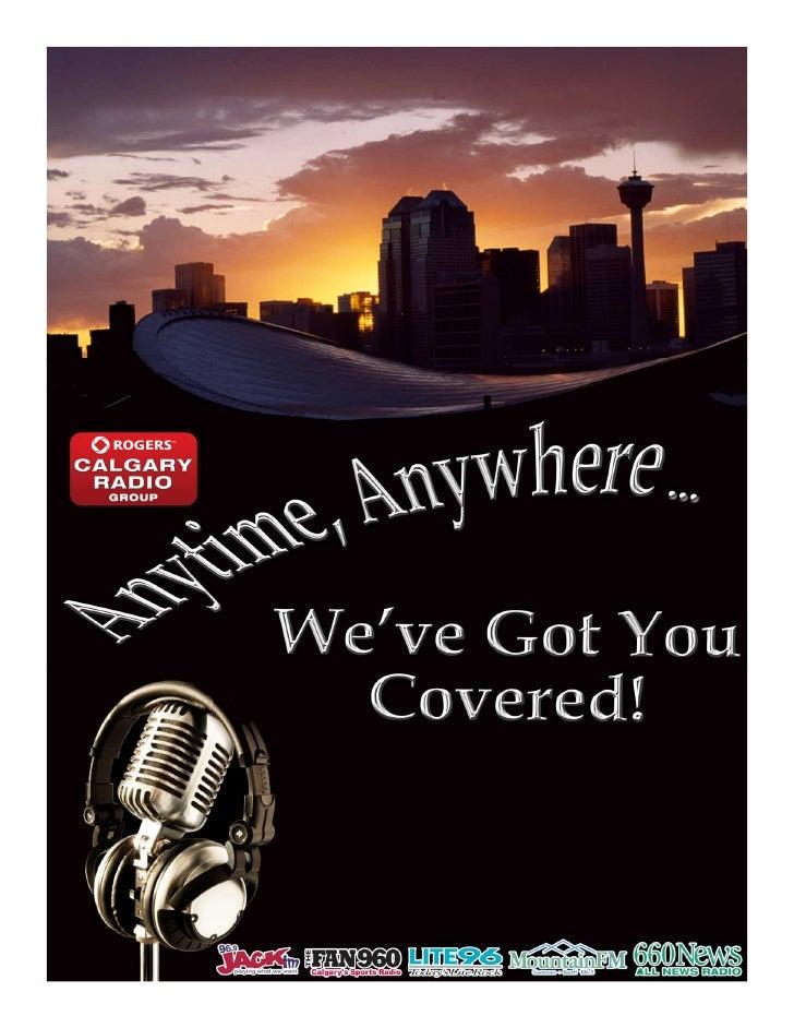2011 Calgary Radio media kit for JACK, LITE