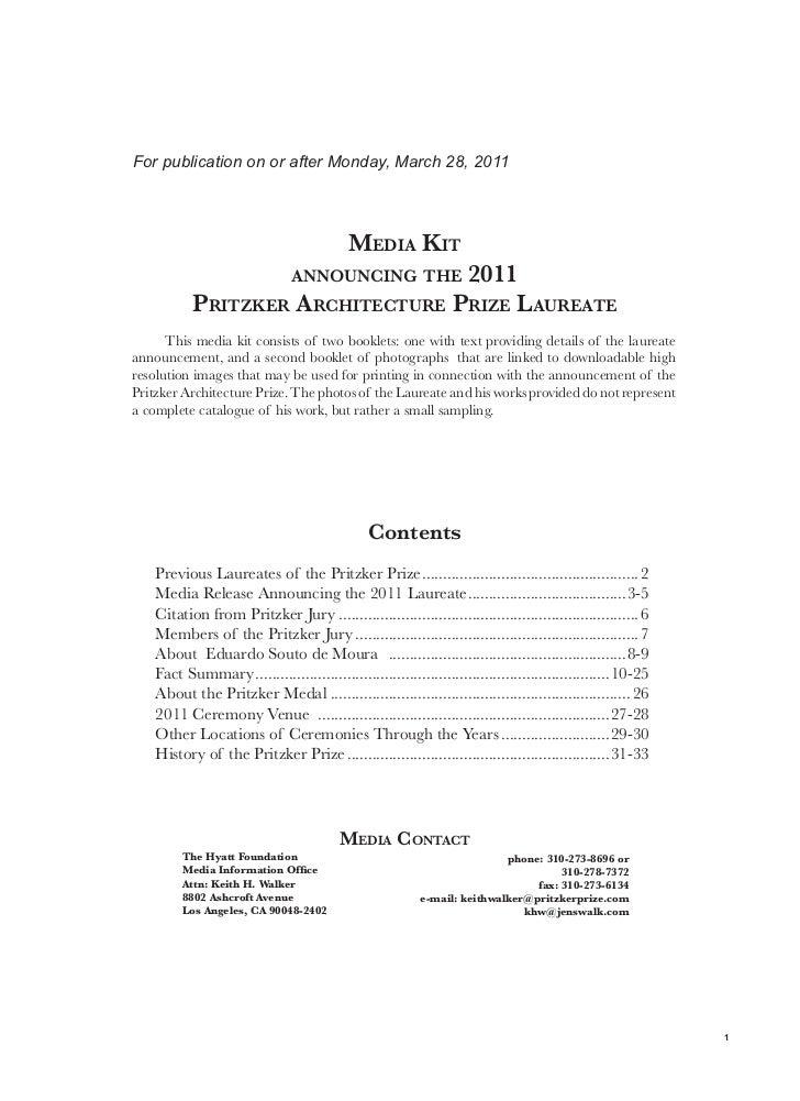 2011 Pritzker Prize mediakit txt